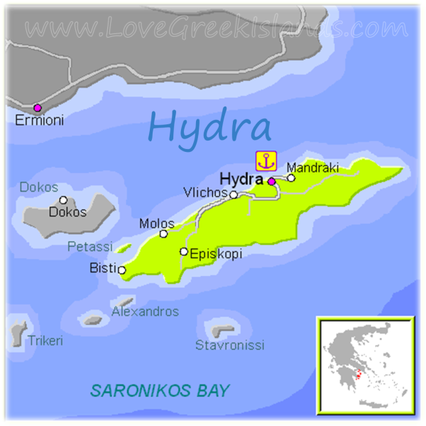 Map of Hydra