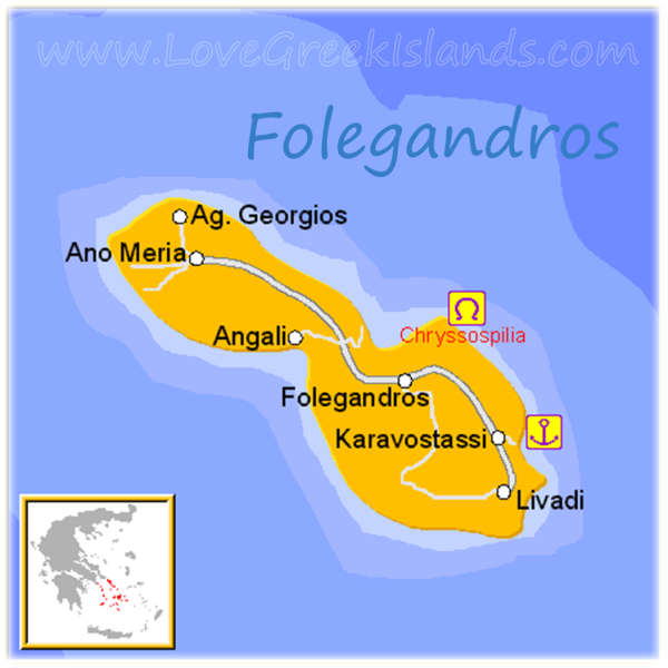 Map of Folgandros