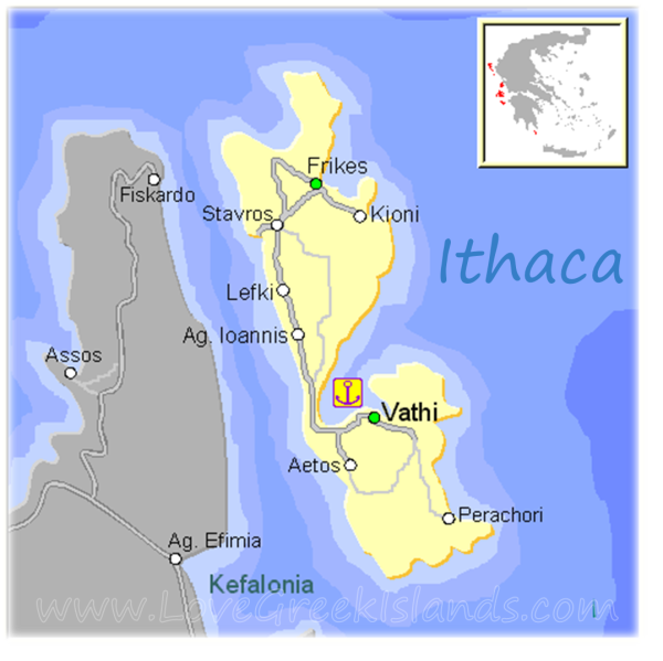 Map of Ithaca